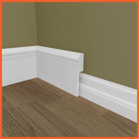 Edge Groove 2 MDF Skirting Board Cover (Skirting Over Skirting)