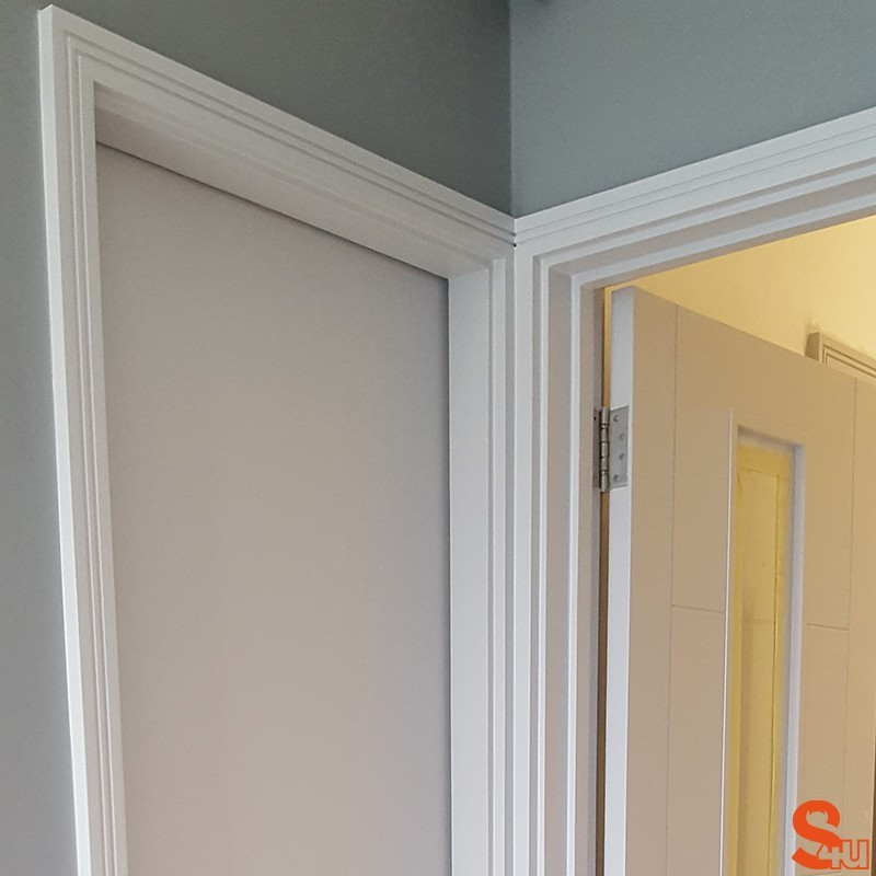 ... Square Groove 2 MDF Architrave White Primed ... : door architraves - pezcame.com