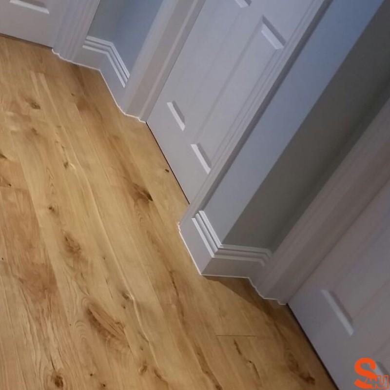 Laminate Flooring Skirting Board Aquastep 70mm High Skirting Factory