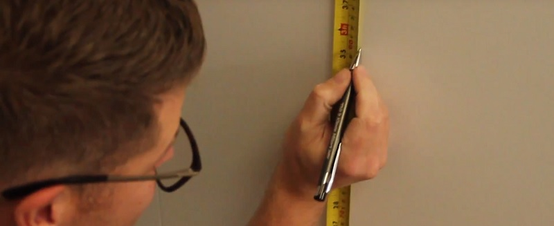 marking dado rail