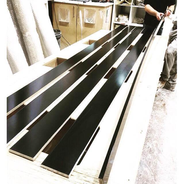 black skirting boards