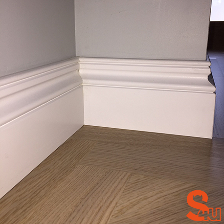 Ogee 2 Skirting Board Fully Finished in Satin