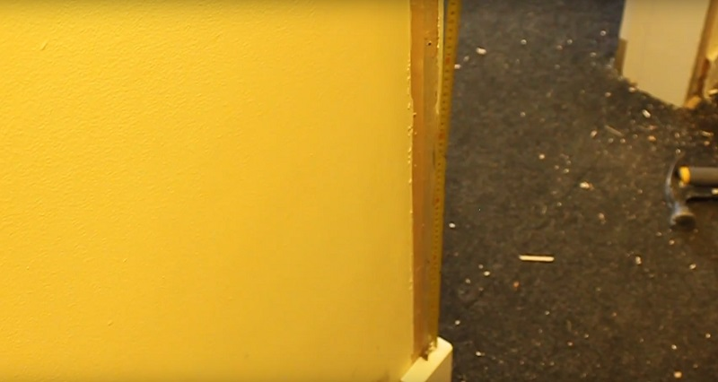 measuring for architrave inbetween plinth block and rosette