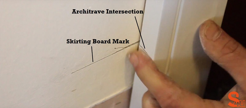 skirting board groove mark
