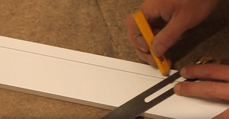 apply angle to architrave uneven door frame