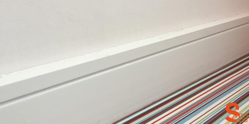 modern square groove skirting board