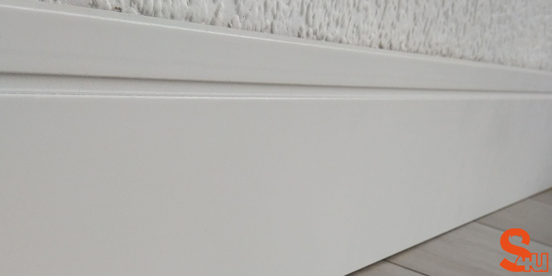 contemporary skirting square groove