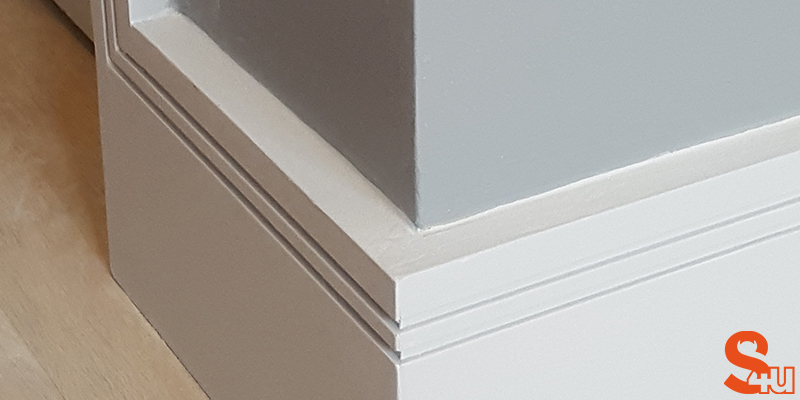 modern skirting boards square groove 2