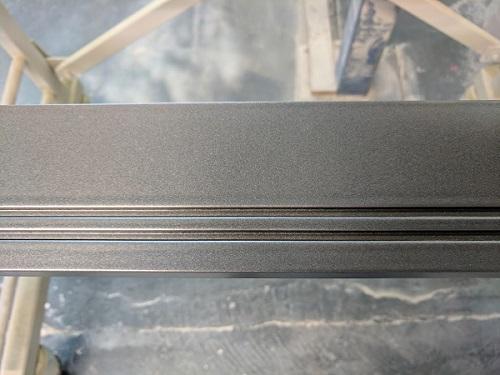 metallic coloured skirting