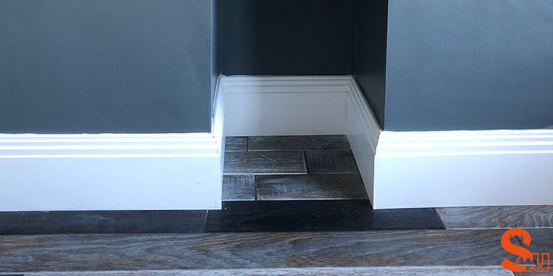modern stepped skirting board