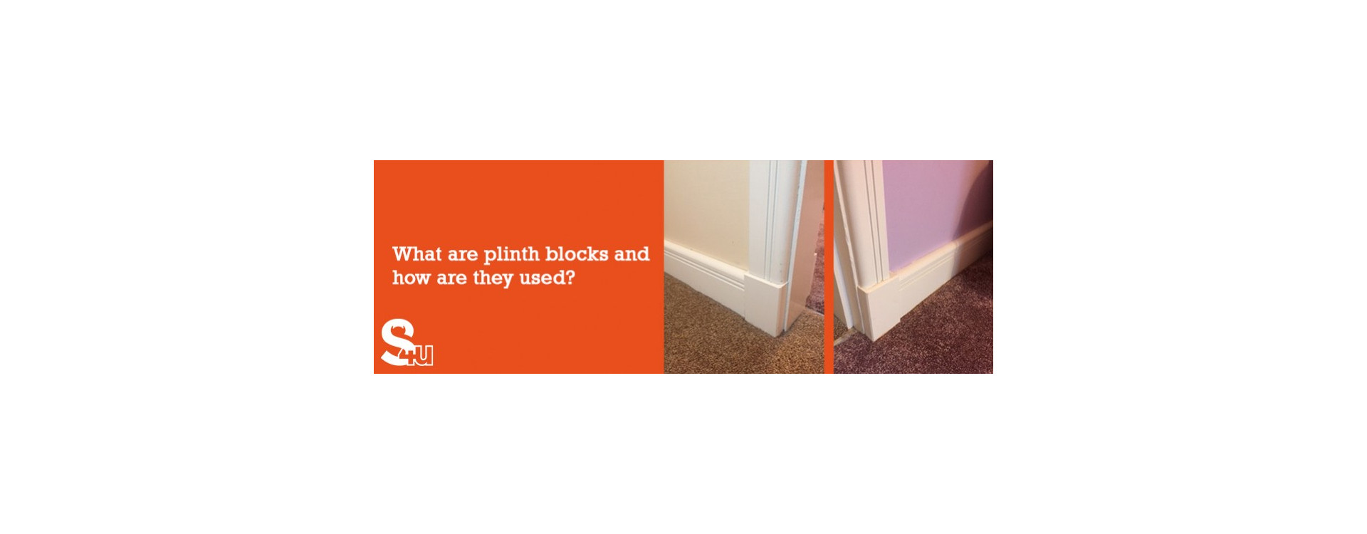 What are plinth blocks and how are they used?
