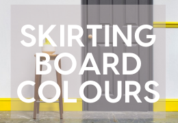 Coloured Skirting Boards - Improve your home by using colour on skirting boards and architrave.