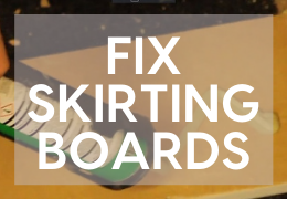 Fixing Skirting Boards with Nails and Adhesive