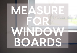 How to measure up and order a window board